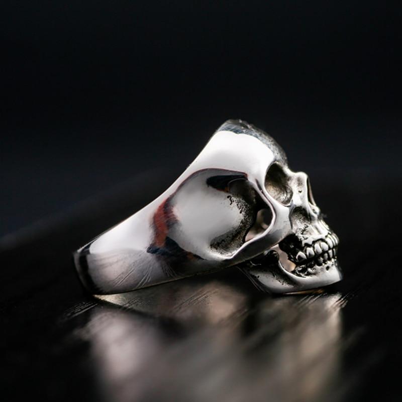 Pravi sterling prsten od 925 srebra za muškarce Dominirajući zub - Modni nakit - Foto 3