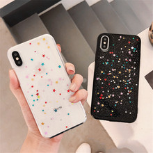 Colorful Glitter Bling Stars Phone Case For iPhone XS Max X XR iphone 6S 6 7 8 Plus Soft silicone case Back Cover