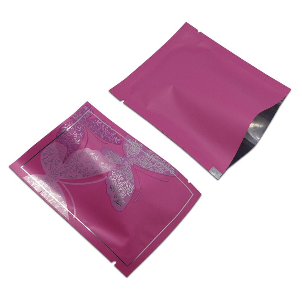 Sac d'emballage de soudure à chaud de papier d'aluminium de dessus ouvert de DHL poche d'emballage alimentaire de Mylar avec l'entaille de larme pour le stockage de thé de sucres de noix