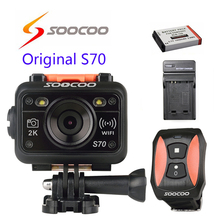 Free shipping!!Original SOOCOO S70 WiFi 2K Waterproof Sport Action Camera with Remote Control+Extra 1pcs battery+battery charger