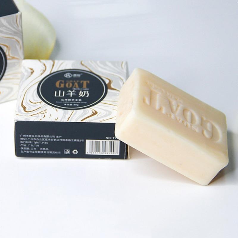 Face Care Cleaner Goat Milk Handmade Soap Removal Pimple Pores Acne Treatment Moisturizing Oil Control Bath Shaving Soap