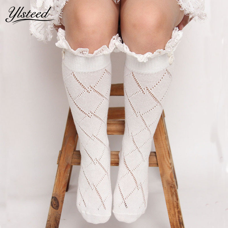 Fashion Baby Girls Leg Warmers Kids Knitted Boot Socks Buttons Children Lace Trim Rhombus Boot Cuffs