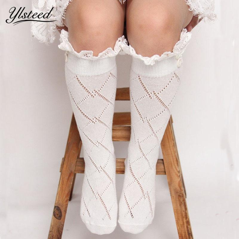 Fashion Baby Girls Leg Warmers Kids Knitted Boot Socks Buttons Children Lace Trim Rhombus Boot Cuffs