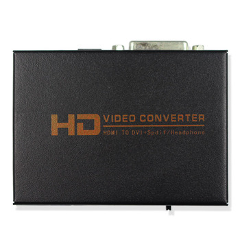 5PCS 1080P HD Video HDMI to DVI Coaxial Audio Converter Adapter Box For PS3,Blue ray DVD