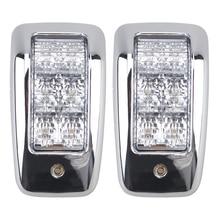 1 쌍 6led 상단 램프 24 v 트럭 트레일러에 대 한 흰색 자동차 인테리어 돔 빛 트럭 해양 보트 액세서리