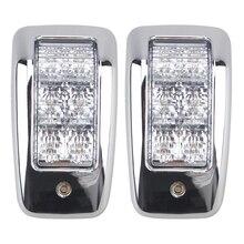 Lámpara superior de 6LED blanca para Interior del vehículo, domo de luz para camión, remolque, camión, camión, barco marino, accesorios, 24V, 1 par