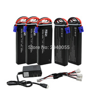 7 4V 3000mAh 10C Hubsan H501S Lipo Battery 5PCS UL Charger Hubsan H501C Rc Quadcopter Airplane