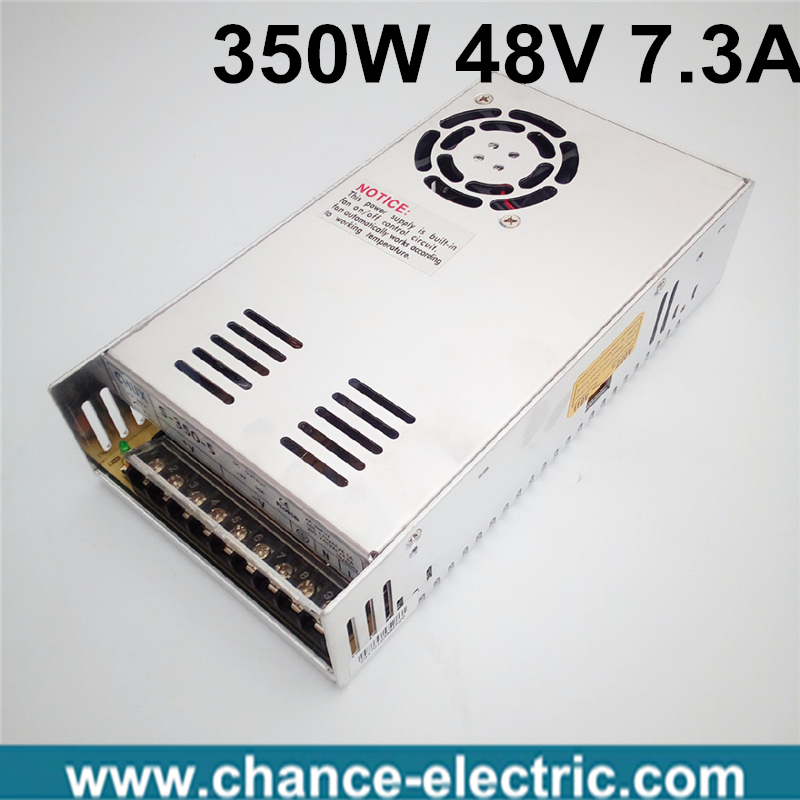 ac to dc single output 48v S-350-48 powered ac adapter 48v power supply 350w high efficiency 20pcs 350w 12v 29a power supply 12v 29a 350w ac dc 100 240v s 350 12 dc12v