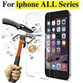 Ultra hd tela premium vidro temperado protector case para iphone 4 4s 5 5S 5C SE 6 6 S plus Temperado protective film Tampa Do Telefone