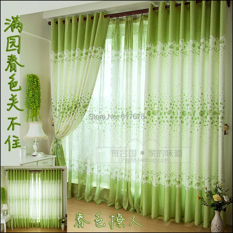 Fresh Spring Green Country Style Main Living Room Childrens Curtain Window Screening Child Real In Curtains From Home Garden On