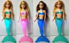 USA 8 Corp Best seller Fashion Kids Mermaid Dolls Toys Swimming Luminescent Mermaid Doll Princess Barbie Dolls Bonecas Girls Toys For Birthday Gifts