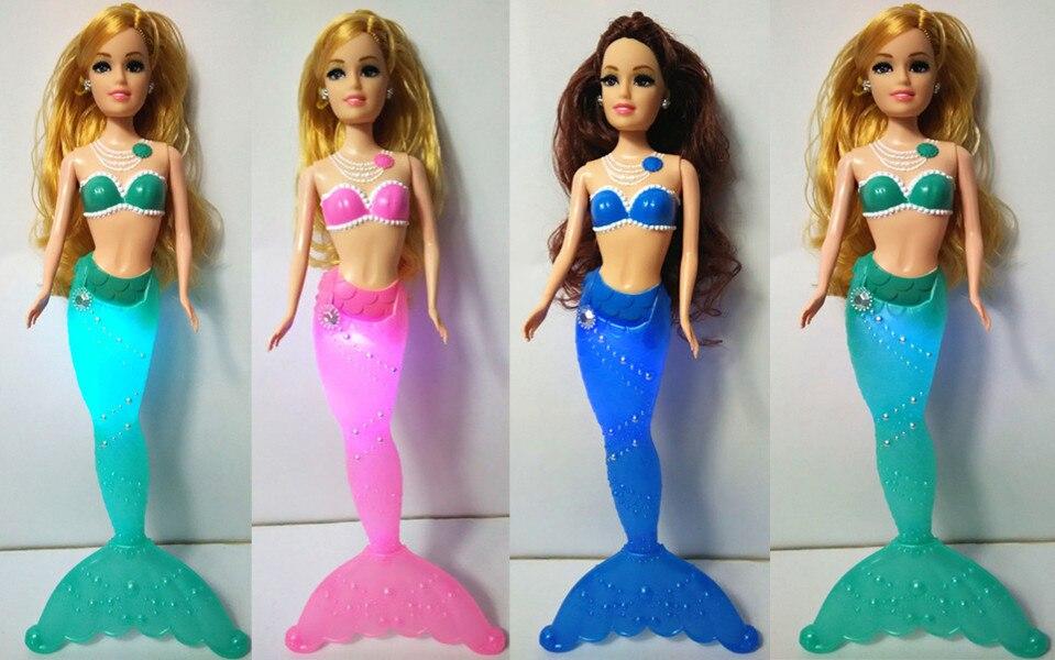 Fashion Kids Mermaid Dolls Toys Swimming Luminescent Mermaid Doll Princess Barbie Dolls Bonecas Girls Toys For Birthday Gifts