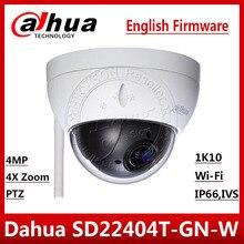 Dahua Originale SD22404T GN W 4MP 4X Zoom Ottico Ad Alta Velocità PTZ TELECAMERA di Rete IP di WiFi Della Macchina Fotografica WDR ICR Ultra IVS IK10 SD22404T GN