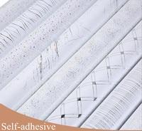 3 M samoprzylepne Rolki tapety kwiat wodoodporna PCV tapety do sypialni szafa szafki kuchenne naklejki winylu papieru