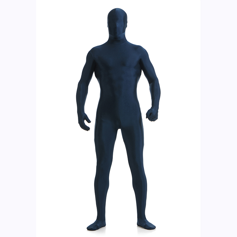 Dark Blue Spandex Zentai Full Body