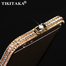 Новый стиль металла горный хрусталь бампер bling Crown luxury diamond crystal clear назад крышка аргументы за телефона iPhone 5 5s SE 6 6 s 7 Плюс