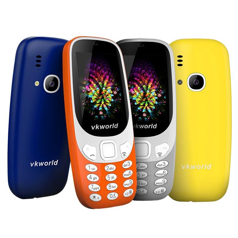 Russian Keyboard Original Vkworld Z3310 2 4 3D Screen 2MP Camera Elder Mobile Phones For Old