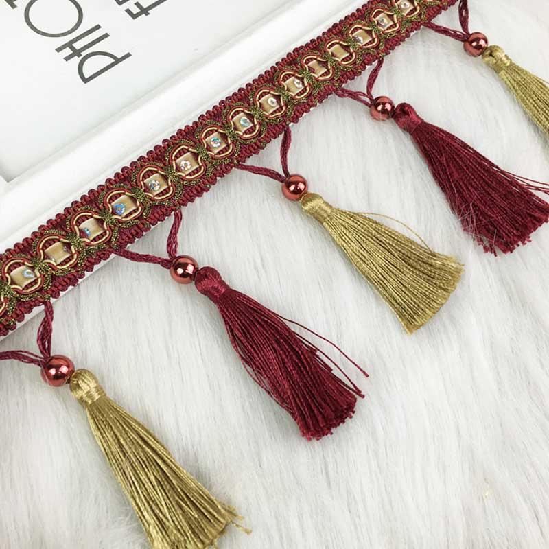 Color Mini Tassel Fringe Pendant DIY Party Hanging Ring Cords Tassel Trim Garments Curtains Jewelry Decor Tassels Lace