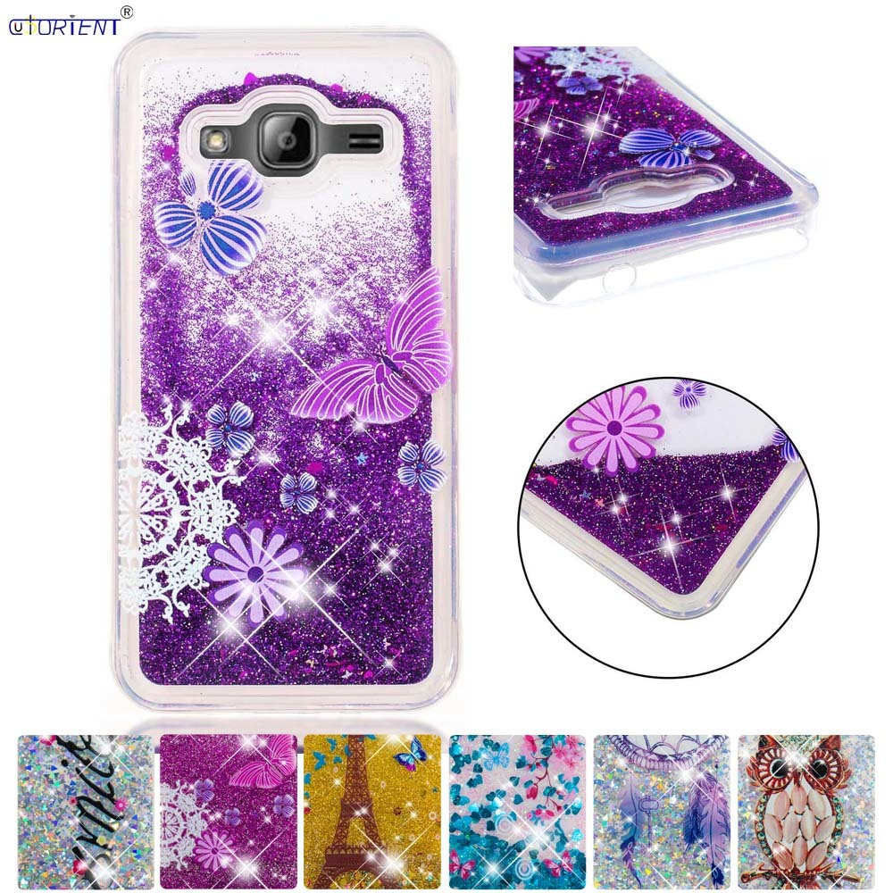 Half-wrapped Case Phone Bags & Cases Fitted Case For Samsung Galaxy J3 2016 J36 Soft Glitter Dynamic Liquid Quicksand Phone Cover Sm-j320f/ds Sm-j320fn Sm-j320h/ds