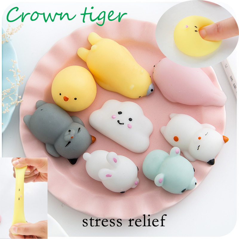 Cute Mochi Squishy Cat Squeeze mini antistress ball toy vent Healing rising Fun Kid Kawaii kids Adult Toy Stress Reliever Decor ball shooting pig stress reliever toy 5 balls