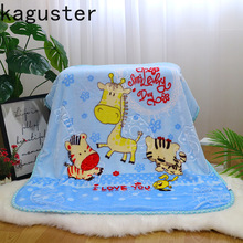High Quality Newborn Baby Bedding Blankets Baby Blanket Infant Bebe Thicken Flannel Swaddle Envelope Stroller Cartoon Blanket aibeile 2018 new high quality flannel baby blanket newborn super soft cartoon blankets 100 110 cm for beds thick warm kid