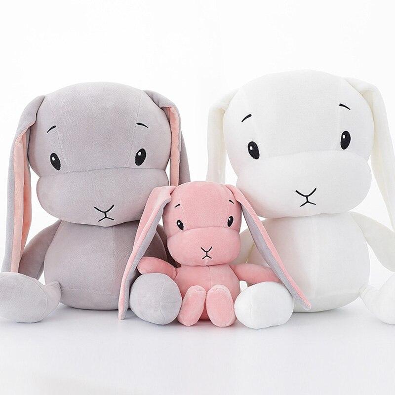 ילדים מצוירים צעצועי קטיפה ארנב Kawaii ממולא בובת בעלי החיים לילדים ילדה בייבי יום הולדת מתנה לחג המולד חמוד מקסים בייבי חיות מחמד