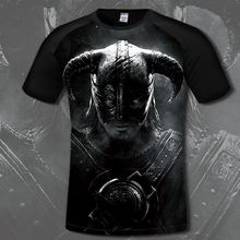 Mens The Elder Scrolls T Shirt Comfortable Game Skyrim 3d Print T-shirts Casual Anime Clothing Fashion Short Costume