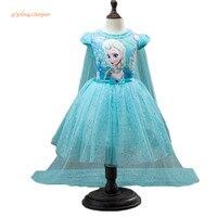 Таможенная модная детская одежда для девочек платье Анны и Эльзы платья с Эльзой для маленьких девочек, для маленьких принцесс, Infantis, для де...
