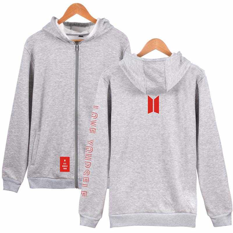 2019 love yourself Cardigan Hooded Sweatshirt men/women Brand zipper Couple Sports knitting hoodie Large size mens clothes