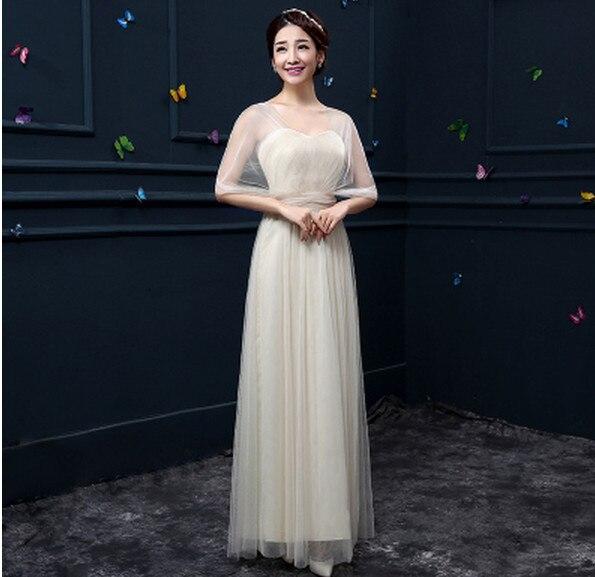 Новое пыльное розовое платье подружки невесты длинное платье с открытыми плечами из тюля милое ТРАПЕЦИЕВИДНОЕ гофрированное платье для свадьбы выпускного вечера платья под$50 - Цвет: champagne