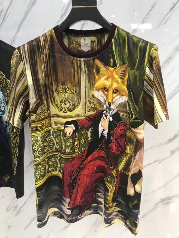 WA05828BH Fantastic top quality luxury Men T-shirt 2018 Summer Europe Designer T Shirt Men famous Brand Fashion Tee Tops