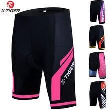X-tiger calção feminino de ciclismo acolchoado em gel 3d, shorts de ciclismo à prova de choque para mtb e bicicleta de estrada