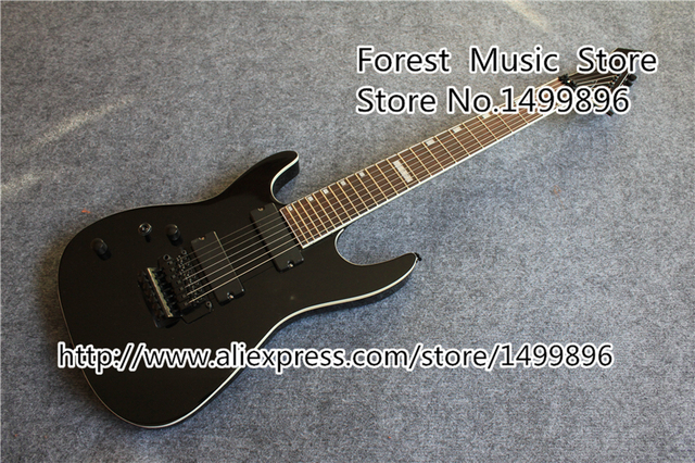 Cheap High Quality Black Left Handed China ESP 7 String Electric Guitar With Lefty Floyd Rose Tremolo Custom