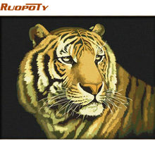 RUOPOTY Frame Animals DIY Oil Painting By Numbers Kits Drawing Picture On Canvas Wall Art Acrylic Paint By Numbers 40*50cm(China)