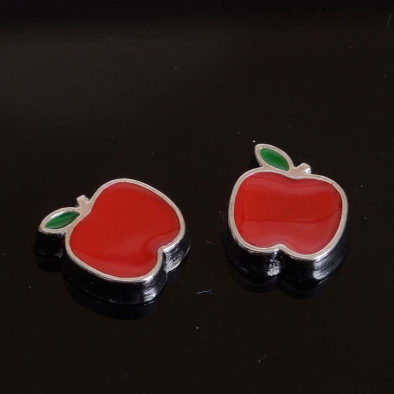 Fruit Charms Pendants Locket Diy-Accessories Floating Enamel for Living-Memory Glass