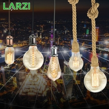 LARZI Vintage Edison Bulb E27 Retro Lamp 220V 40W Incandescent Light A19 A60 ST64 T10 T45 T185 G80 G95 Filament