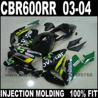 High quality motorcycle parts for CBR 600 RR 2003 2004 CBR600RR F5 fairings set 03 04 CBR600 black movistar fairing kits