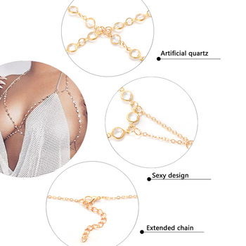 Bls-miracle Bohemia Fashion Jewelry Punk Gold Color Crystal Body Chain For Women Sexy Statement Body Chains Accessories BN-28 1