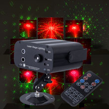 RGB DJ Laser Projector light Stage Lighting Effect for Disco Club Xmas Party Holiday Show Lights With 3lens 48 Patterns(China)