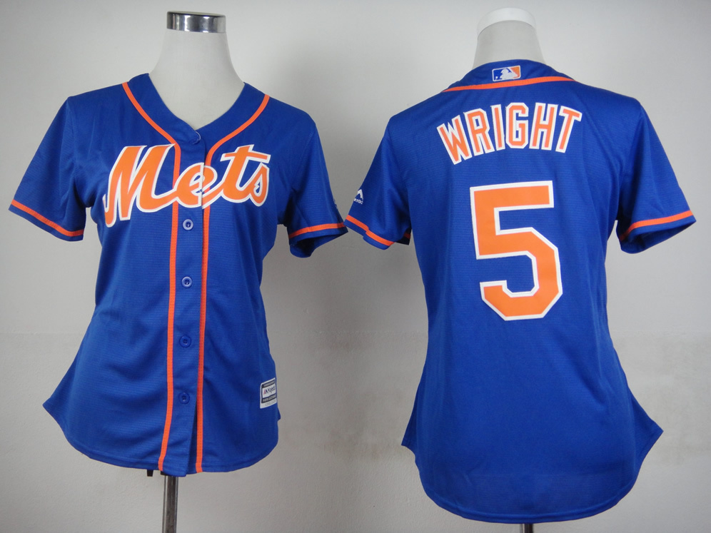 buy popular e868e ea71b 2015 #5 David Wright Womens New York Mets Shirt White Home ...