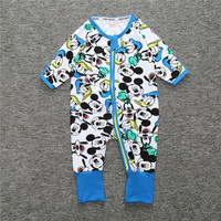 Newborn Baby Boys Girls Cartoon 100 Cotton Cute Zipper Foot Cover Rompers Pajama Overall Clothes Infant