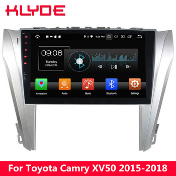 """KLYDE 10.1"""" IPS 4G Octa Core Android 8.0 4GB RAM 32GB ROM Car DVD Multimedia Player Radio Stereo For Toyota Camry XV50 2015-2018"""