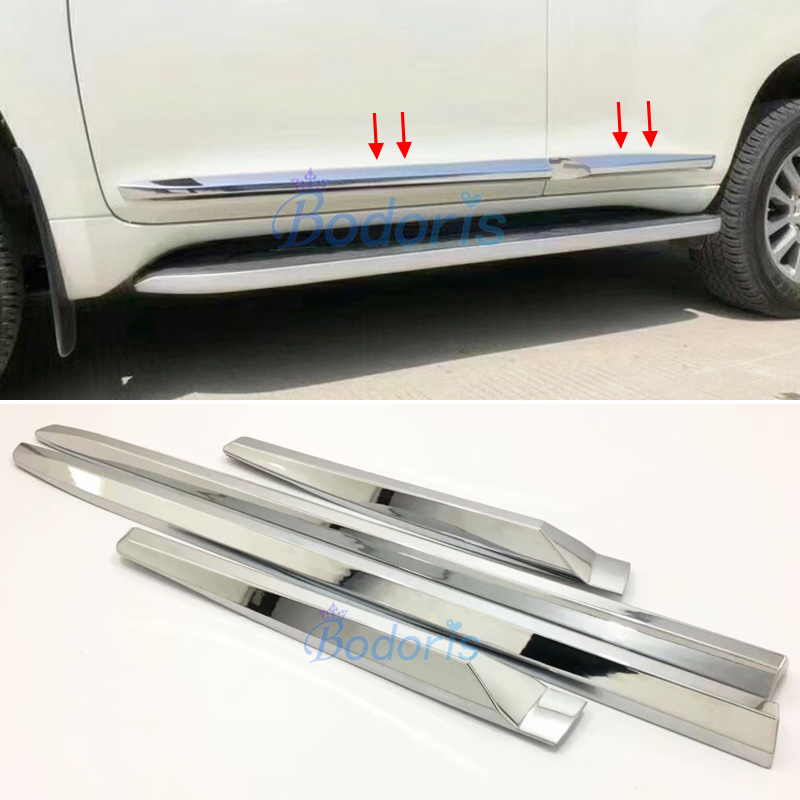 3D design For Toyota Land Cruiser Prado 150 LC150 2010 2018 Chrome Body Side Moulding Cover