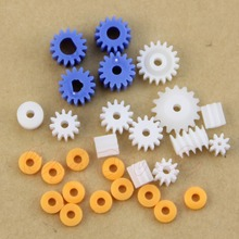 16 Kinds Plastic Shaft Gears Spindle Gear-B 2MM 2.3MM 3MM 3.17MM 4MM Worm