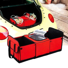 Road Trip Car Boot Organiser Handy Folding Trunk Organizer Outing Storage Bags car-styling Portable back seat Cooler Set Basket