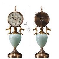 Decorative Retro Table Desktop Clocks Tower Living Room Bedroom Vintage Mute Clock Nostalgic Ornaments Table Desktop Watches