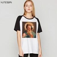 المتناثرة الهيب هوب الإناث t-shirt مريم العذراء لب الخيال مختلطة t قميص المرأة الصيف بلايز مضحك camisetas الجمعة السوداء المحملة