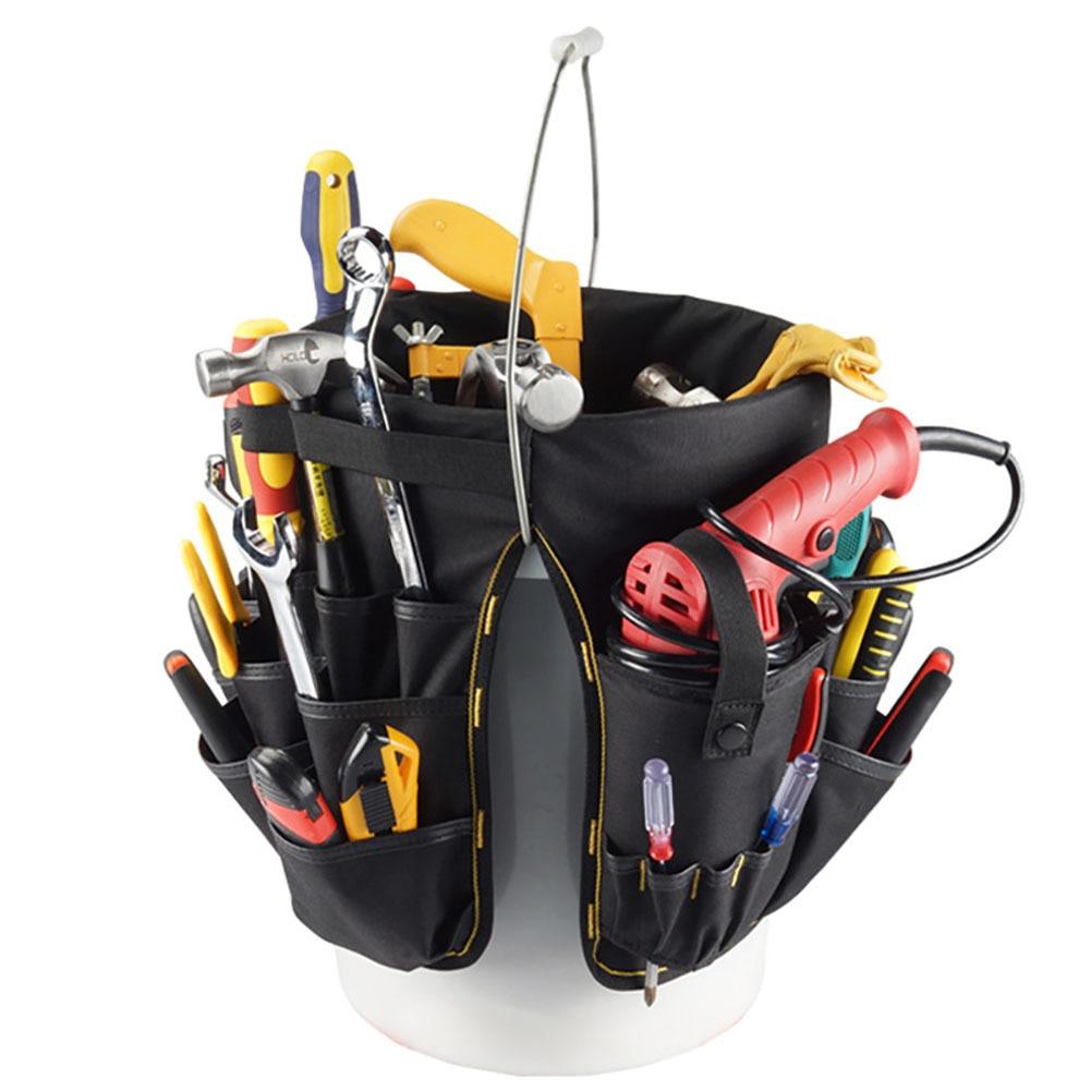 Hot Sale Hardware Bucket Bag Electrician Multi-Function Repair Kit Tool Organizer Waist Bags odin&bosch tool bag multi function electric woodworking repair bag hardware electric belt