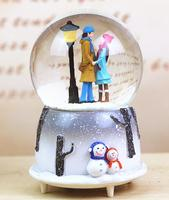 Sky city crystal ball creative gift resin music box of love and love students children's girlfriend gifts cculpture statue