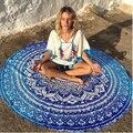 Indian Mandala Round Roundie Beach Throw Tapestry Hippy Boho Gypsy Cotton Tablecloth Beach Towel Round Yoga Mat L38344-1
